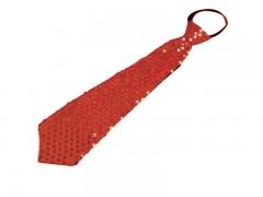 Nyakkendő flitterekkel - Piros Party,figurás nyakkendő