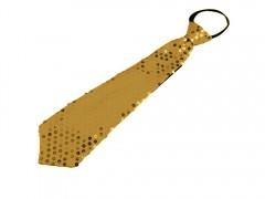 Nyakkendő flitterekkel - Arany Party,figurás nyakkendő