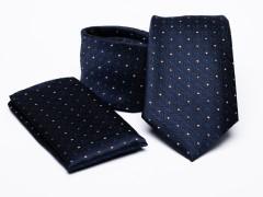 Prémium nyakkendő szett - Sötétkék aprómintás Nyakkendő szettek