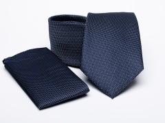 Prémium nyakkendő szett - Sötétkék pöttyös Nyakkendő szettek