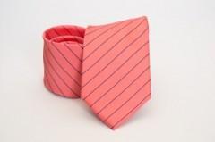 Prémium nyakkendő -  Lazac-kék csíkos