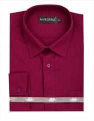 Newsmen h.u normál ing - Bordó Egyszínű ing