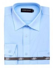 Newsmen h.u normál ing - Égszínkék Egyszínű ing