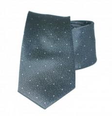 Vincitore slim selyem nyakkendő - Grafit mintás Selyem nyakkendők