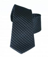 Vincitore slim selyem nyakkendő - Fekete mintás Selyem nyakkendők