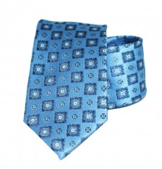 Vincitore slim selyem nyakkendő - Kék mintás Mintás nyakkendők