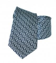 Vincitore slim selyem nyakkendő - Szürke mintás Mintás nyakkendők