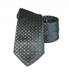 Vincitore slim selyem nyakkendő - Barna-fekete Selyem nyakkendők