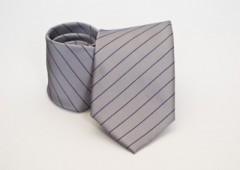 Prémium nyakkendő -  Szürke-fekete csíkos