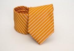 Prémium nyakkendő -  Napsárga-fehér csíkos