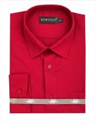 Newsmen h.u normál ing - Piros Egyszínű ing