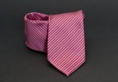 Prémium nyakkendő - Rózsaszín csíkos