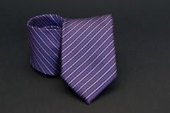 Prémium nyakkendő - Lila csíkos