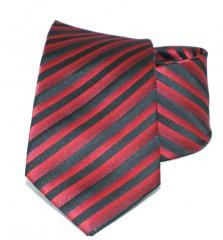 Newsmen gyerek nyakkendő - Fekete-piros csíkos Gyerek nyakkendők