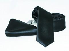 NM szatén nyakkendő szett - Fekete Nyakkendő szettek