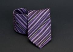 Prémium nyakkendő - Lila-szürke csíkos