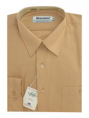 Newsmen h.u normál ing - Mustár Egyszínű ing