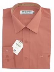 Newsmen h.u normál ing - Téglaszín Egyszínű ing