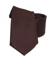 NM szatén nyakkendő - Sötétbarna