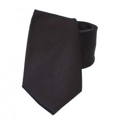NM szatén nyakkendő - Mélybarna