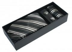 NM nyakkendő szett - Szürke csíkos Mintás nyakkendők