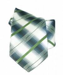 NM classic nyakkendő - Zöld-szürke csíkos