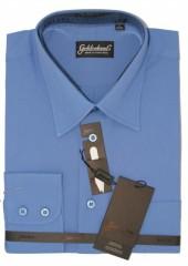 Goldenland hosszúujjú ing - Középkék Normál fazon