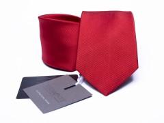 Prémium selyem nyakkendő - Piros szatén Selyem nyakkendők