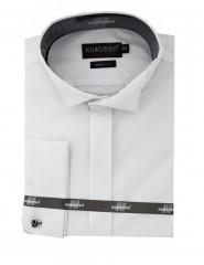 Newsmen szmoking mandzsettás ing - Fehér Egyszínű ing