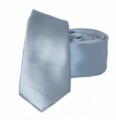 NM slim szatén nyakkendő - Ezüstszürke