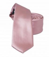 NM slim szatén nyakkendő - Lazacrózsaszín