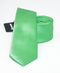 NM slim szatén nyakkendő - Kiwizöld