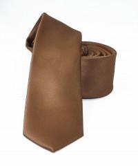 NM slim szatén nyakkendő - Barna