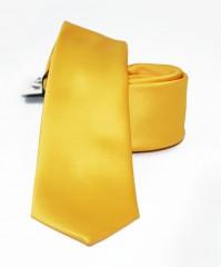 NM slim szatén nyakkendő - Napsárga