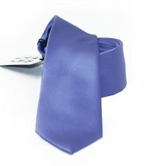NM slim szatén nyakkendő - Kékeslila
