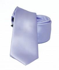 NM slim szatén nyakkendő - Halványlila