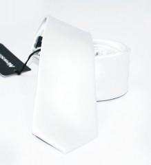NM slim szatén nyakkendő - Fehér