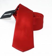 NM slim szatén nyakkendő - Piros