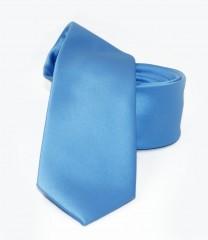 NM slim szatén nyakkendő - Égszínkék