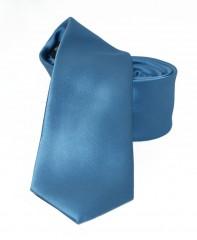 NM slim szatén nyakkendő - Farmerkék