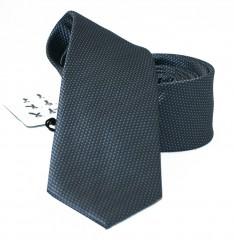 NM slim szatén nyakkendő - Sötétszürke szövött