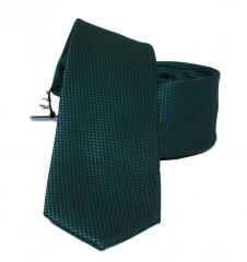 NM slim szatén nyakkendő - Sötétzöld szövött