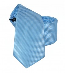 NM slim szatén nyakkendő - Kék szövött