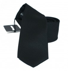 NM slim szatén nyakkendő - Fekete szövött