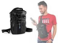 Crossbody táska USB csatlakozóval Férfi táska, pénztárca