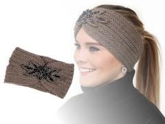 Női téli fejpánt gyöngy betéttel Női kalap, sapka