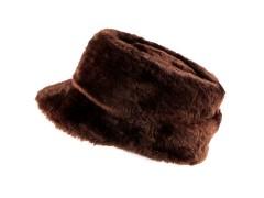 Férfi műszőr sapka - Barna Férfi kalap, sapka