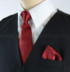 Gyerek nyakkendő szett - Meggybordó Szettek