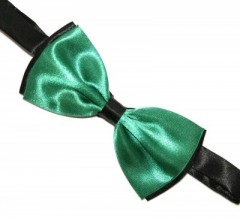 Csokornyakkendő - Zöld-fekete Csokornyakkendők