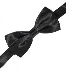 Gyerek szatén csokornyakkendő - Fekete Csokornyakkendő